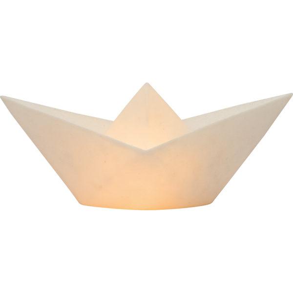 PAPIEREN BOOTJE LAMP GLASSFIBRE