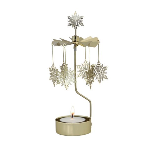 GOUDEN SNEEUWVLOK ROTARY CANDLE