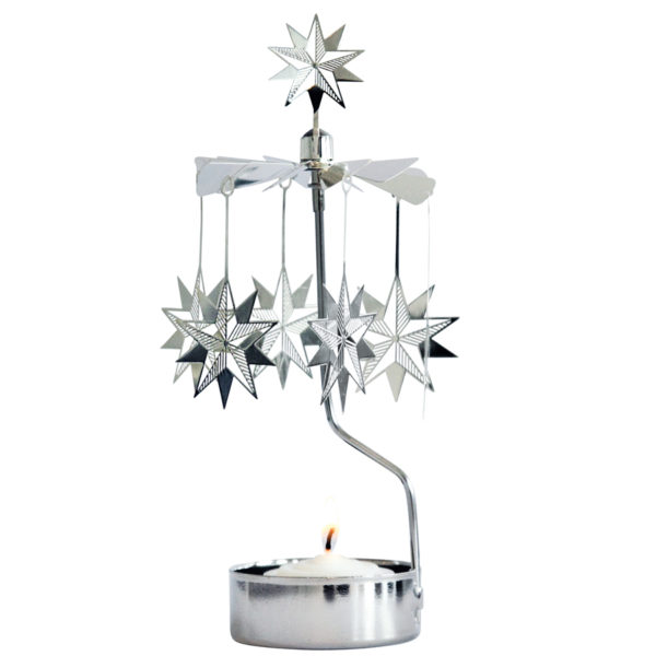 10 PUNTIGE STER THEELICHTCARROUSEL an870 10 pointed 3d star rotary candle pluto produkter