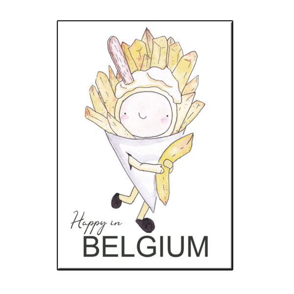 A6 HAPPY PUNTZAK FRIET BELGIË KAART