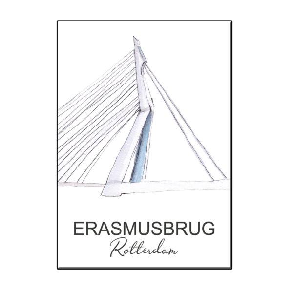 A6 STADSICOON ERASMUSBRUG ROTTERDAM KAART
