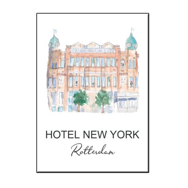 A6 STADSICOON HOTEL NEW YORK ROTTERDAM KAART