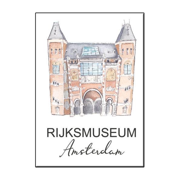 A6 STADSICOON AMSTERDAM RIJKSMUSEUM KAART