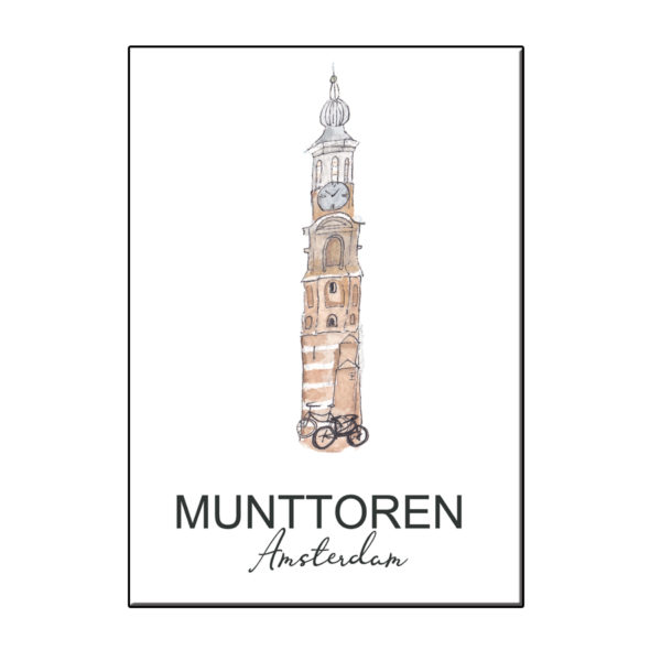 A6 STADSICOON MUNTTOREN AMSTERDAM KAART