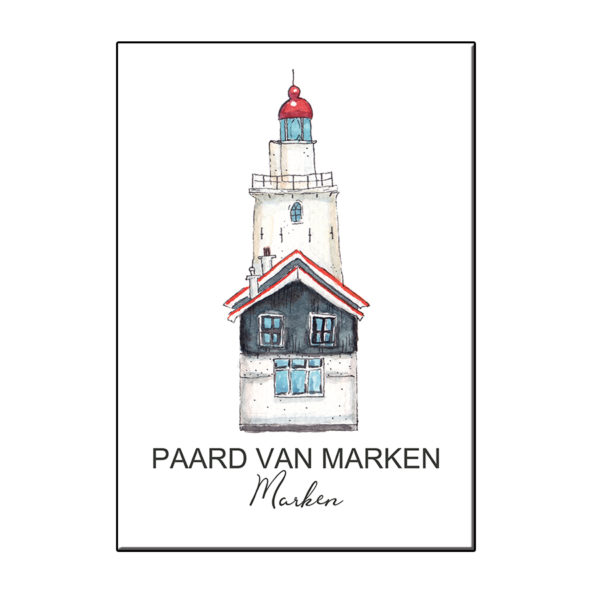 A6 VUURTOREN PAARD VAN MARKEN KAART