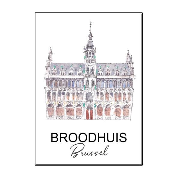 A6 STADSICOON BROODHUIS BRUSSEL KAART