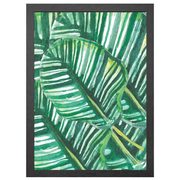 Geef een beetje klasse aan je interieur met deze Jungle leafs poster in zwarte mdf lijst met plexiglas cover uit de Joyin collectie