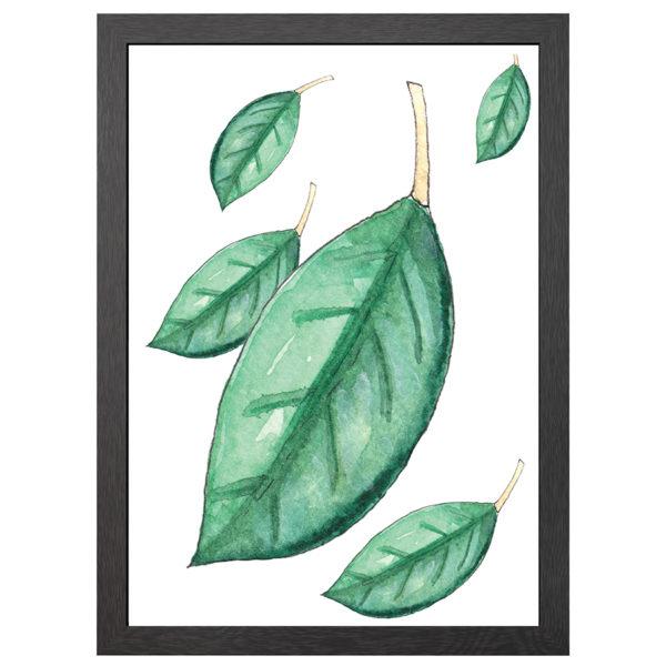 Geef een beetje klasse aan je interieur met deze FALLING leafs poster in zwarte mdf lijst met plexiglas cover uit de Joyin collectie.