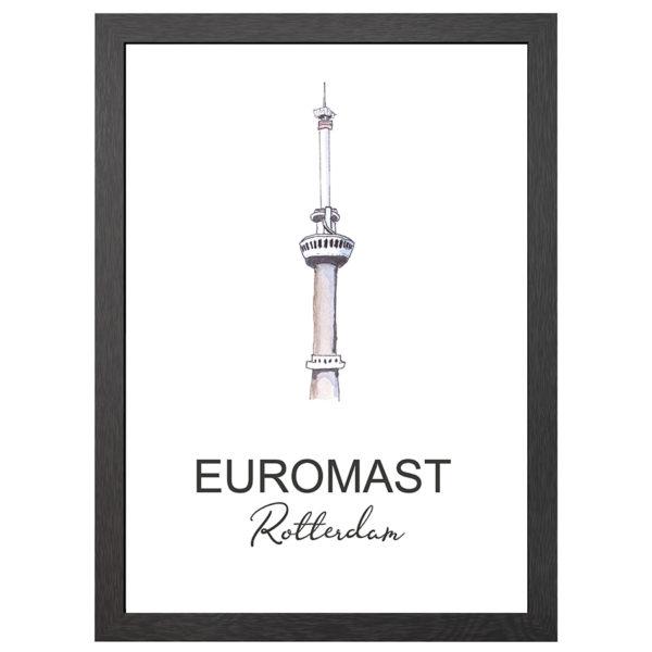 POSTER EUROMAST ROTTERDAM IN LIJST