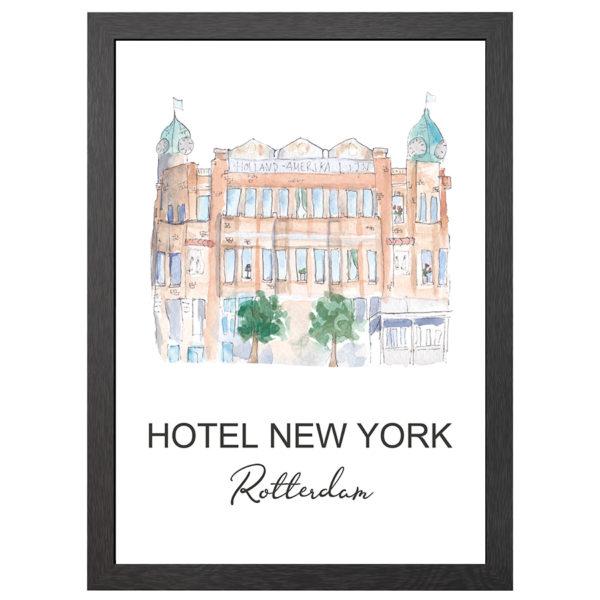 POSTER HOTEL NEW YORK ROTTERDAM IN FRAME - JOYIN