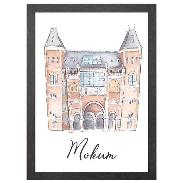 POSTER RIJKSMUSEUM MOKUM (AMSTERDAM) IN LIJST