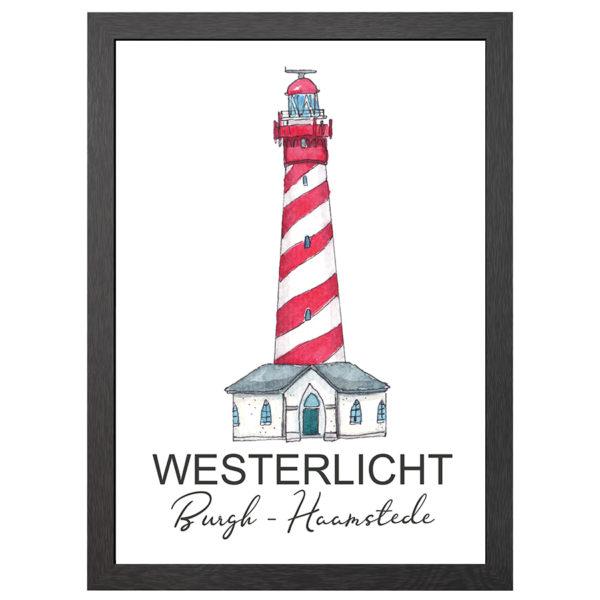 POSTER VUURTOREN WESTERLICHT BURGH-HAAMSTEDE