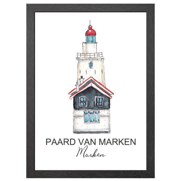 POSTER VUURTOREN PAARD VAN MARKEN - JOYIN
