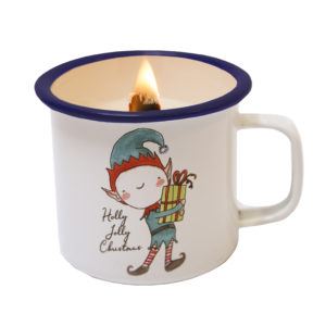 KERST ELF CANDLE IN A CUP