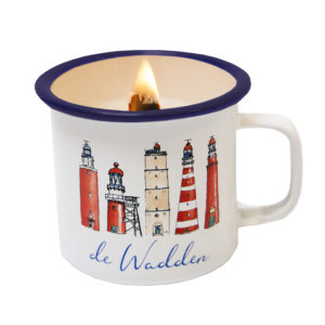 Wadden Candle in a cup soja kaars in beker wadden