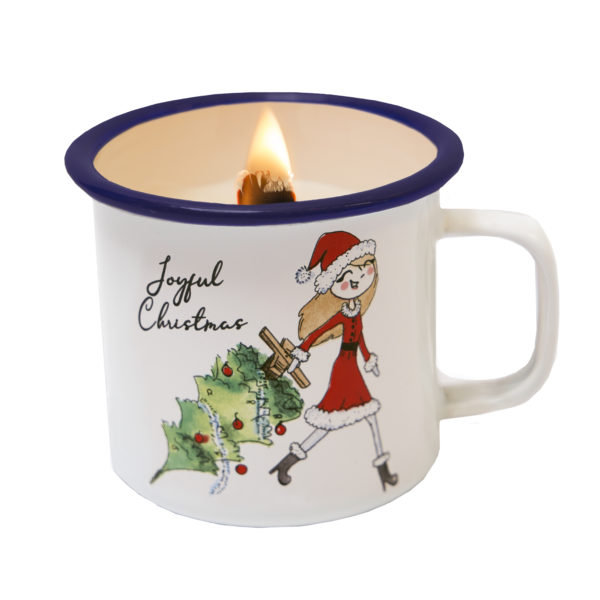 KERSTBOOM CANDLE IN A CUP